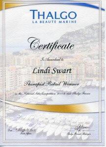 Thalgo Certificate
